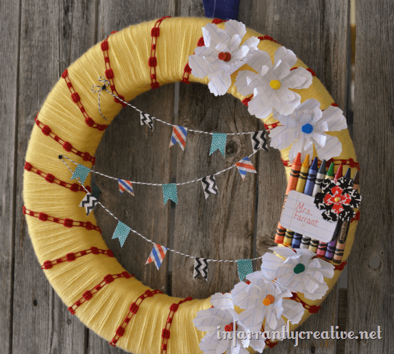 teacher classroom wreath