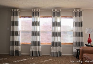 Black And White Striped Curtains Diy
