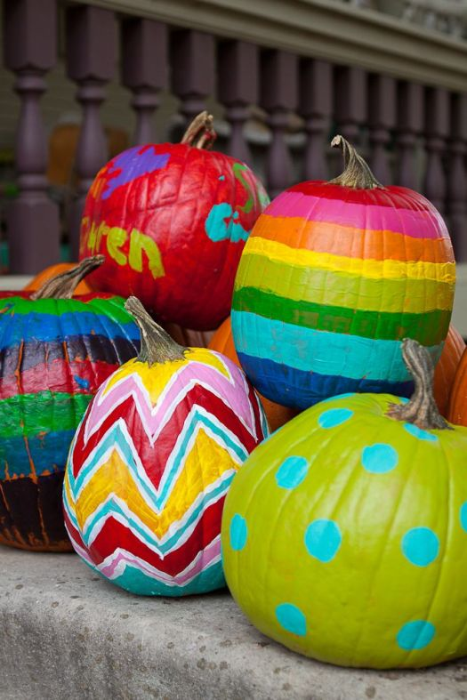 5 ways to decorate a pumpkin infarrantly creative Funny pumpkin painting ideas