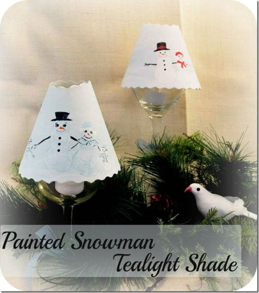Painted Snowman Shades