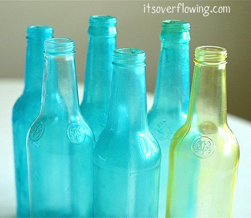 It's Overflowing tinted bottles