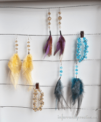 How to Make Feather Earrings - Infarrantly Creative