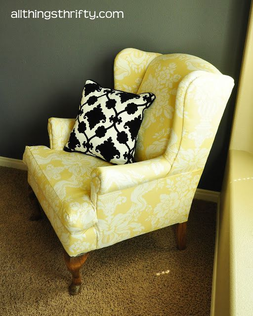 All Things Thrifty wing back upholstery