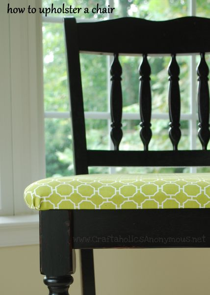 Craftaholics Anonymous upholstered chairs