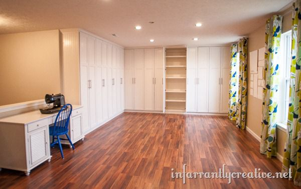Craft Room Built-in Cabinets