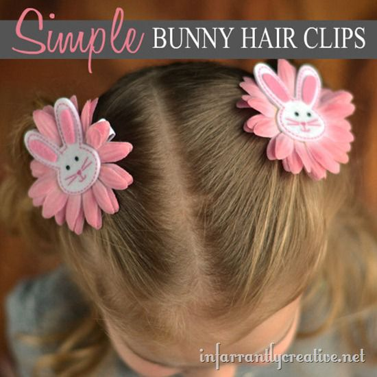 easter bunny hair accessories