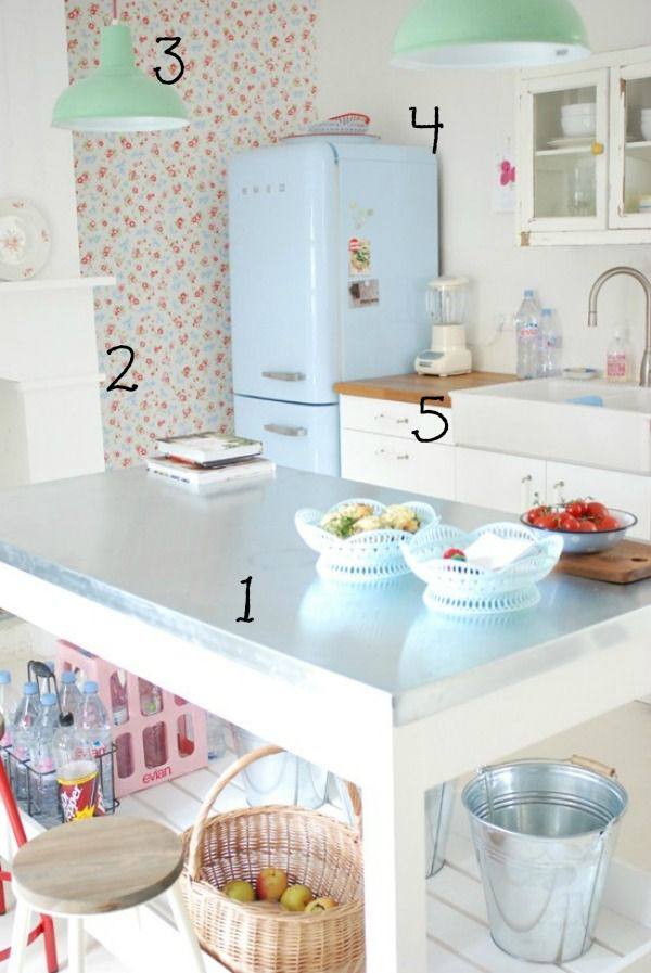 5 Ways to Get This Look:  Retro Cottage Kitchen