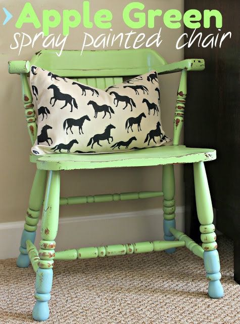 Spray Painted Green Chair