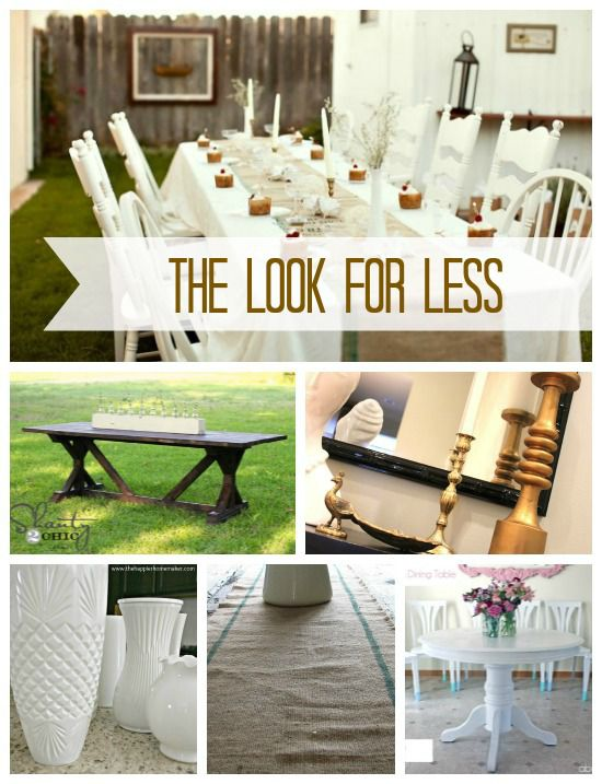 5 Ways to Get This Look:  Elegant Outdoor Dining