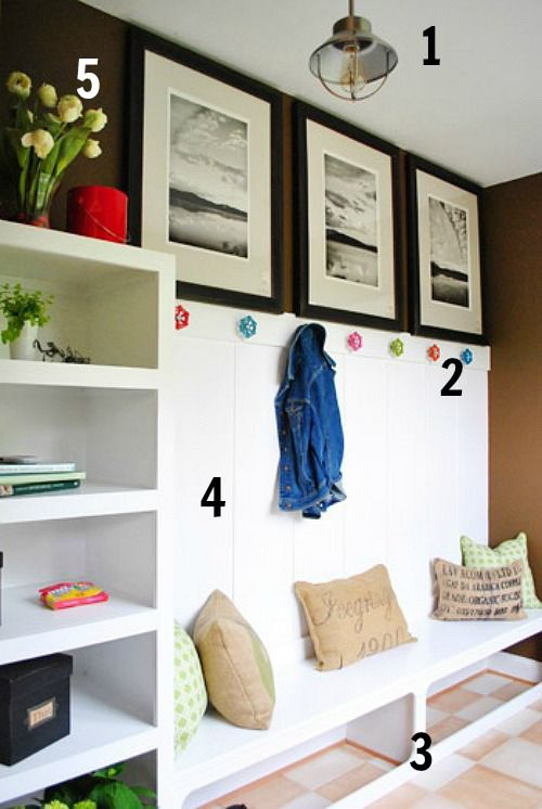 5 Ways to Get This Look:  Whimsical Mudroom