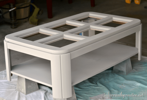 Painted Lego table