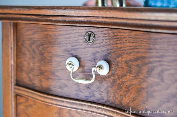 serpentine dresser drawer