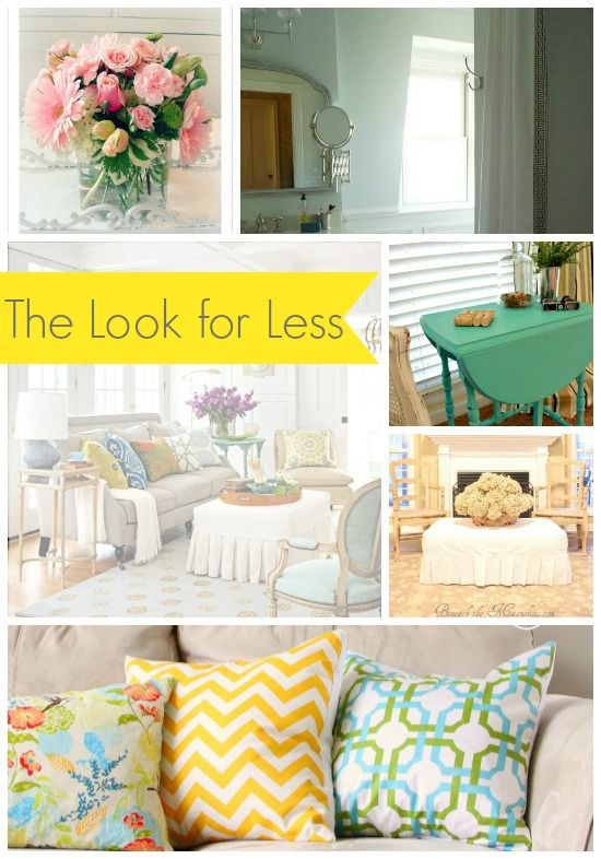 5 ways to get this look summery living room infarrantly for Living rooms for less