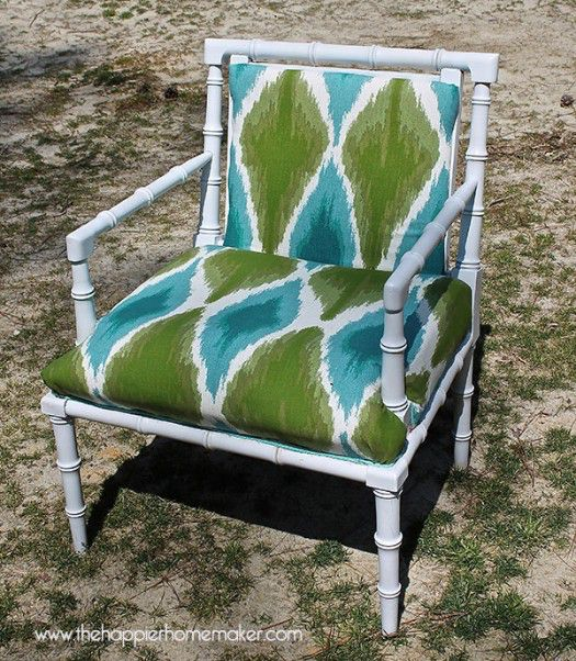 The Happier Homemaker bamboo chair makeover