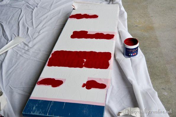 painting patriotic sign