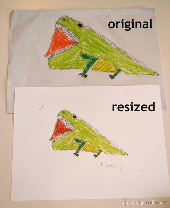 resizing kids art work