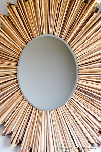 wood starburst mirror tutorial