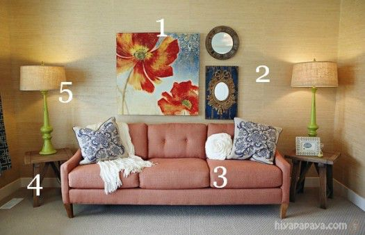 Grasscloth Den Seating inspiration  Numbered