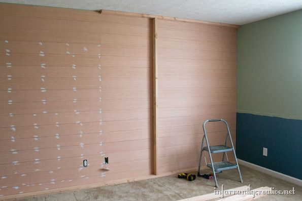 adding built in shelving to wall