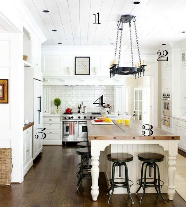 5 Ways to Get This Look: Dreamy White Farmhouse Kitchen