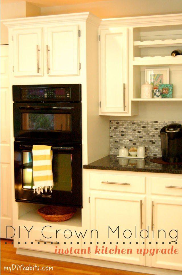 My DIY Habits Molding On Cabinets