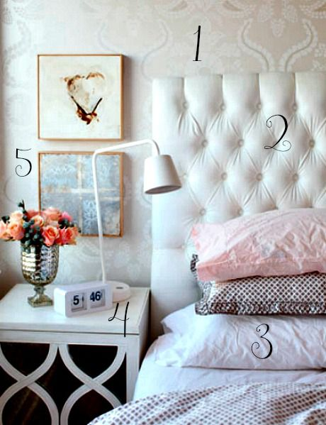 Soft Bedroom Numbered Inspiration Photo