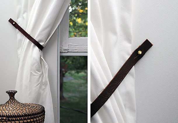 House of Earnest leather belt curtain ties 2