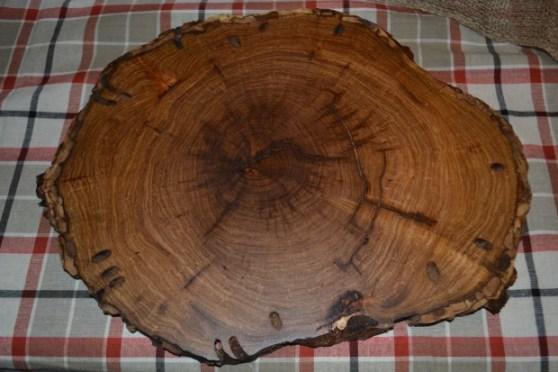 Lana Bird wood slice charger