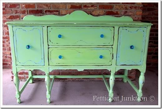 Petticoat Junktion painted sideboard