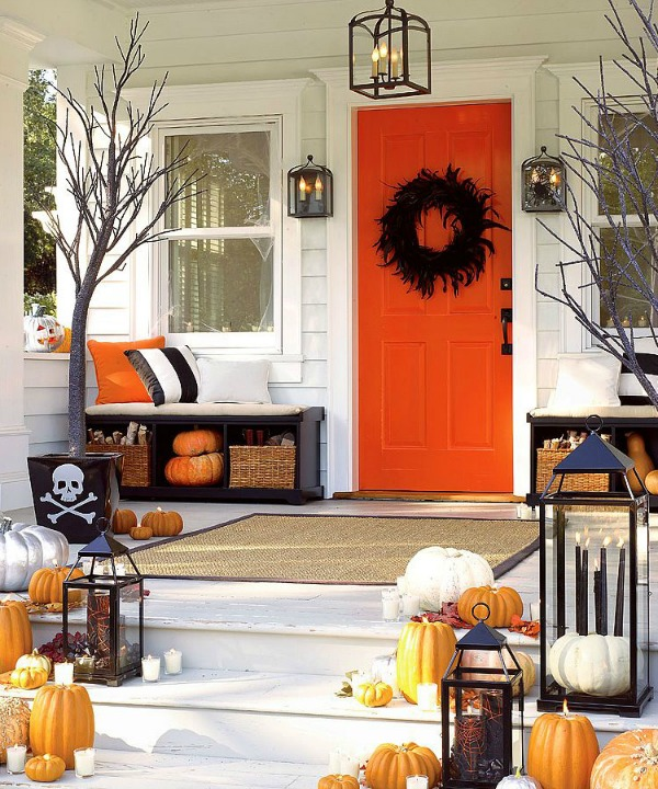 Pottery Barn Halloween Porch Inspiration