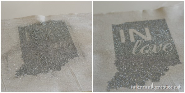 glittered indiana pillow