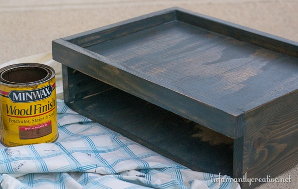 DIY tabletop tray