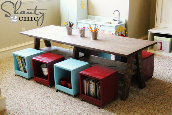 Shanty 2 Chic diy kids play table