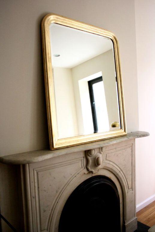 VMac & Cheese gold leaf mirror