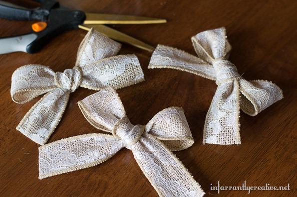 burlap bows