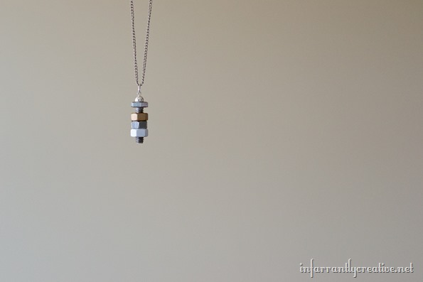 metallic nuts necklace