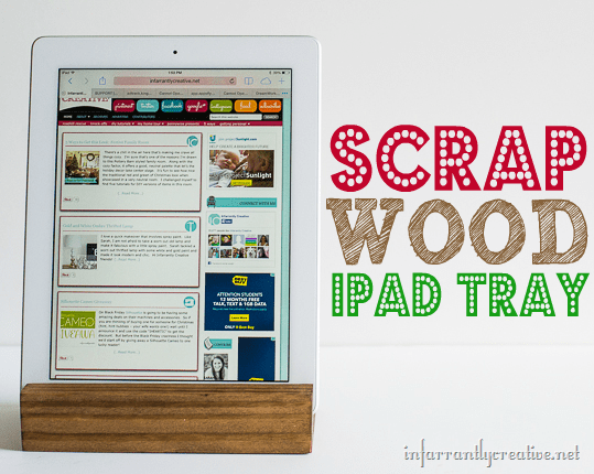 Scrap Wood iPad Tray