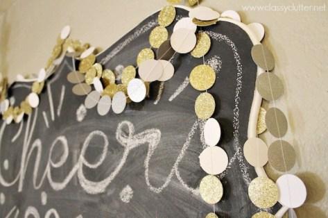 Classy Clutter glittery garland
