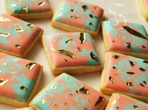 Sweetambs edible gold leaf cookies