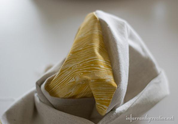 wood fabric pillow
