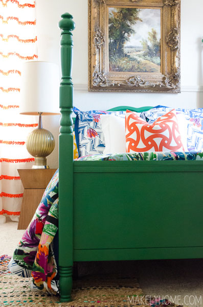 Makely School for Girls painted bed