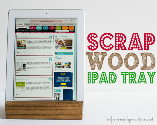 DIY IPad Tray