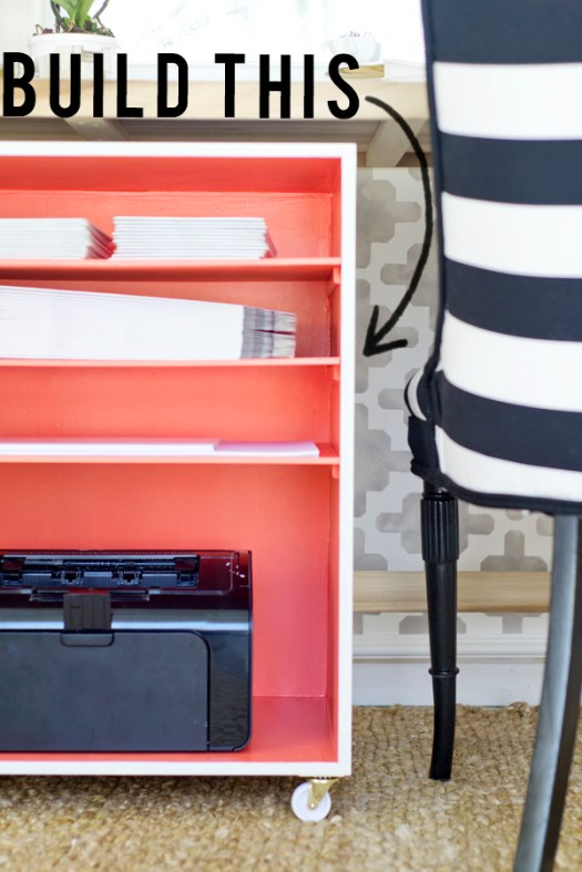 Office Organization: Rolling Shelf Cart