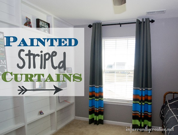 DIY striped and painted curtains