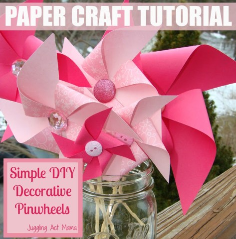 Juggling Act valentine pinwheel tutorial