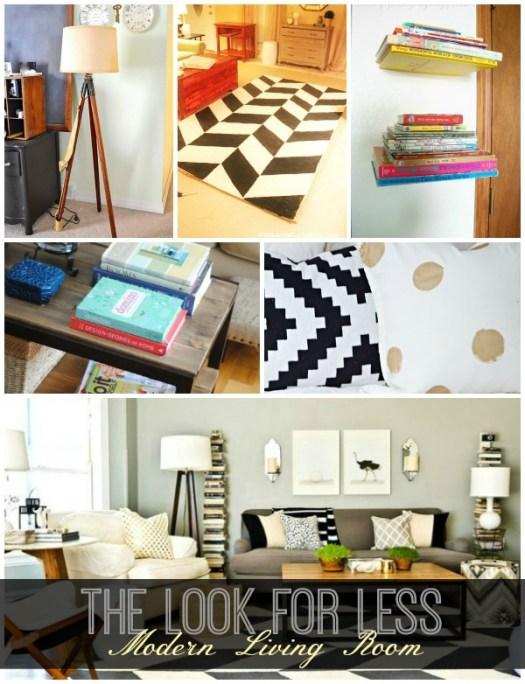 Modern living room collage