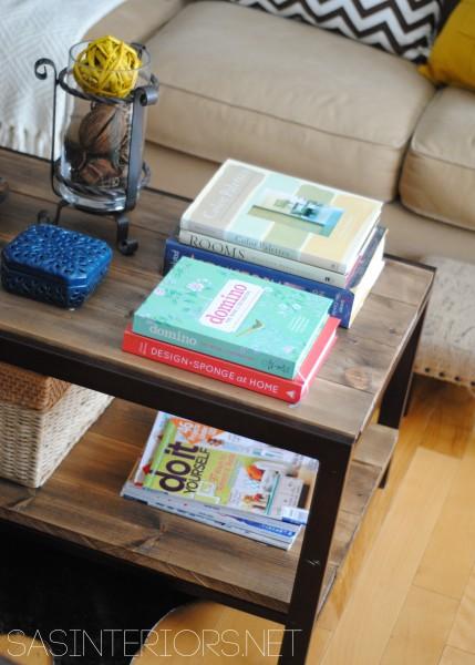 SAS Interiors diy industrial metal wood coffee table