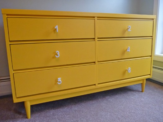 yellow-dresser-makeover-number-pulls