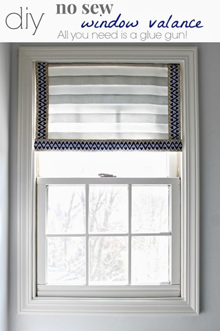 Diy No Sew Window Valance Infarrantly Creative