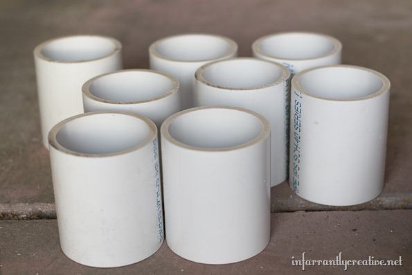 cut pvc pipes